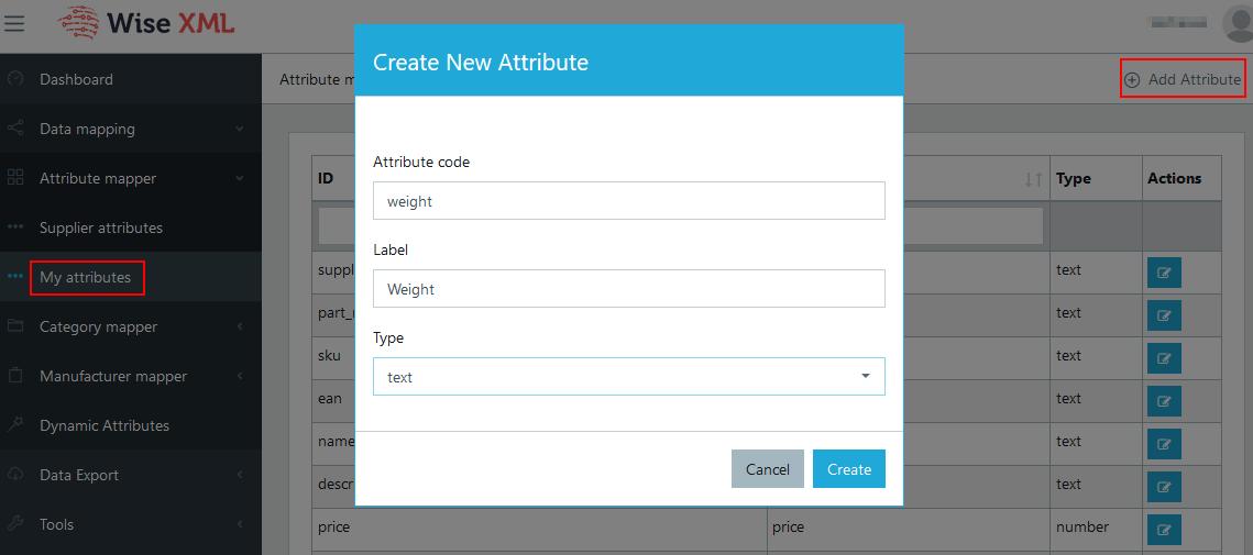 Add attribute