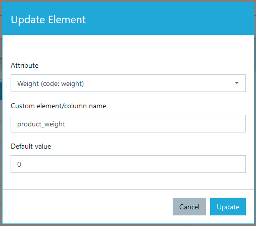 Adding elements in export profile #1