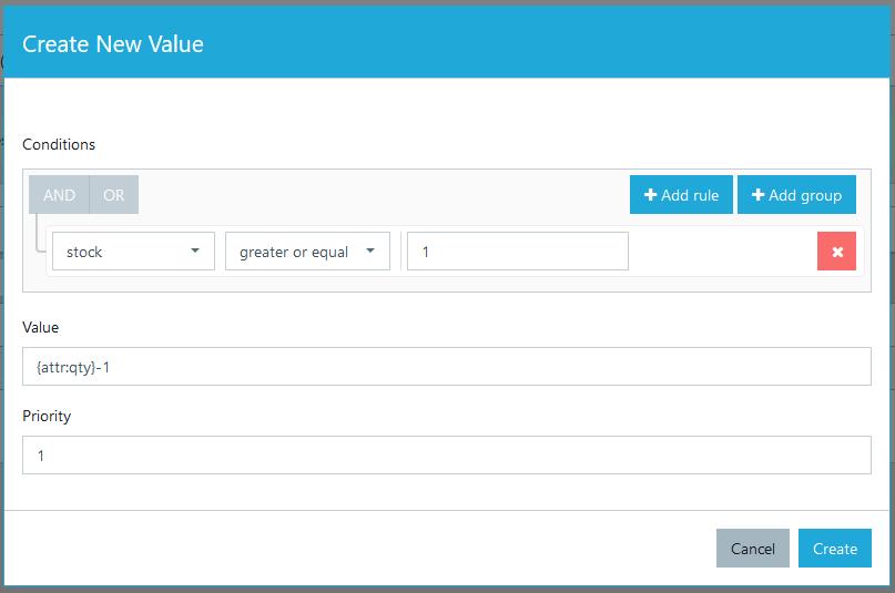 Dynamic attribute value